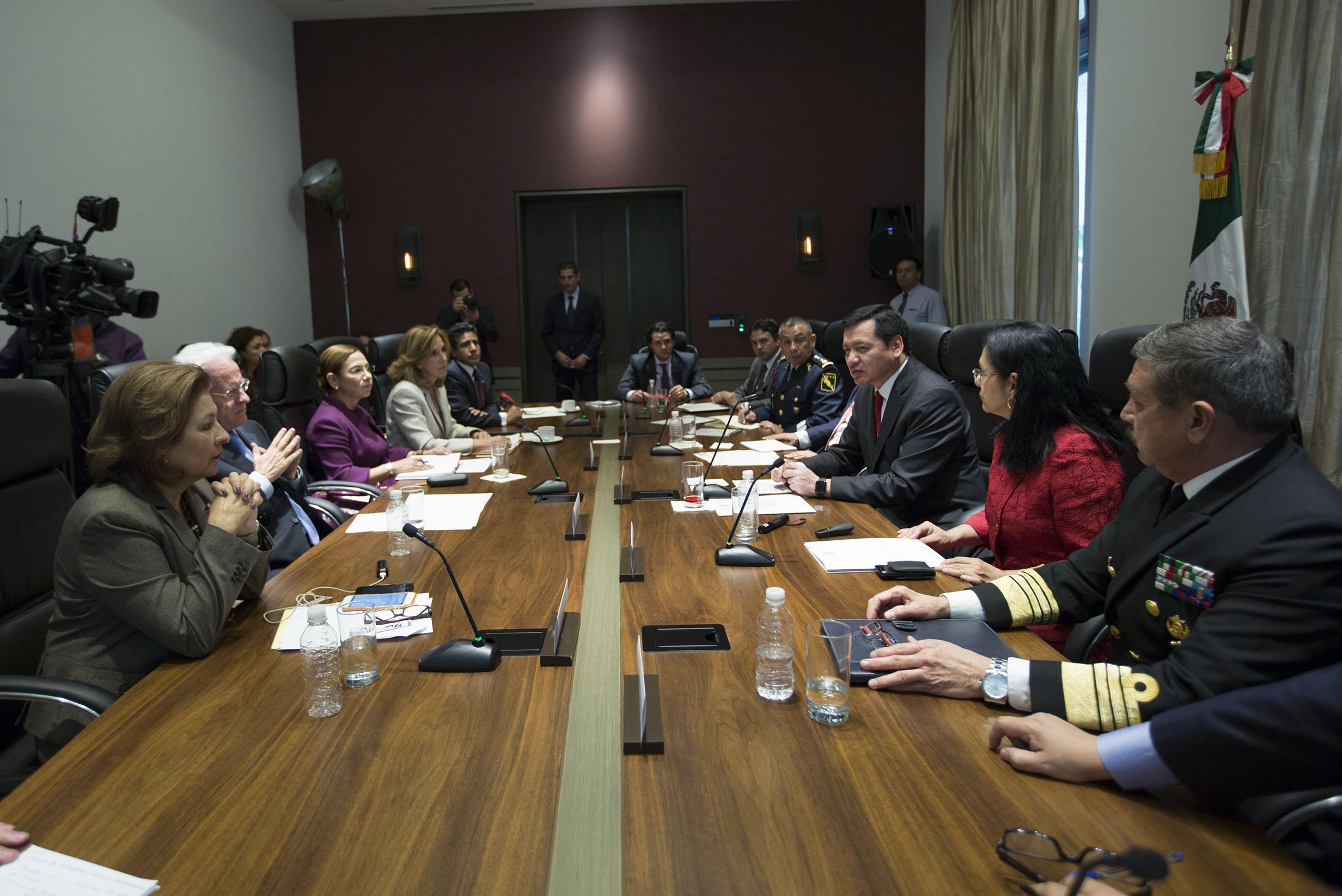 El Secretario de Gobernación, Miguel Ángel Osorio Chong, encabezó la reunión del Comité Especial de Seguimiento y Evaluación de las Acciones para Prevenir, Investigar, Sancionar y Erradicar el Delito del Secuestro