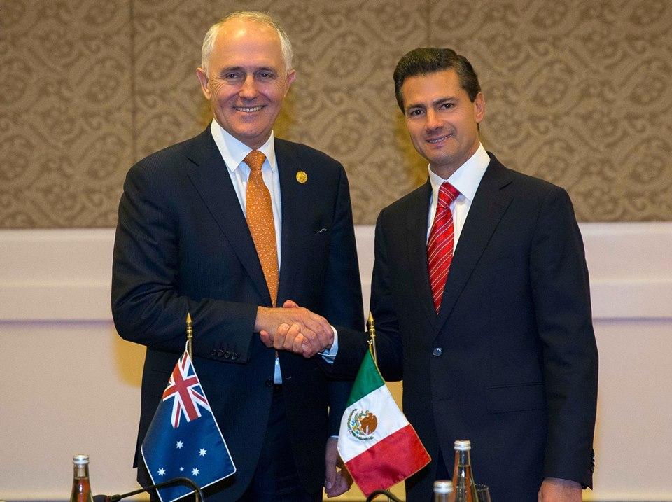 """El Presidente Peña Nieto mencionó que en México """"estamos trabajando para incrementar los intercambios educativos y culturales con Australia"""", y para que trabajadores mexicanos puedan viajar a ese país y residir en él."""