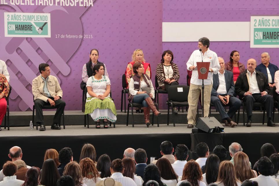 El subsecretario de Desarrollo Social y Humano de la Sedesol Informó al Presidente Enrique Peña Nieto sobre los avances de la Cruzada Nacional Contra el Hambre
