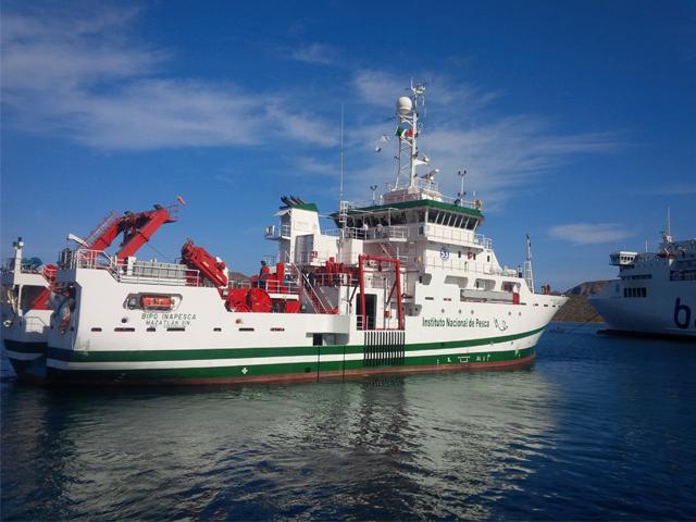 El buque orientó su labor a realizar estudios que deriven en el aprovechamiento sustentable de los recursos pesqueros y oceanográficos.