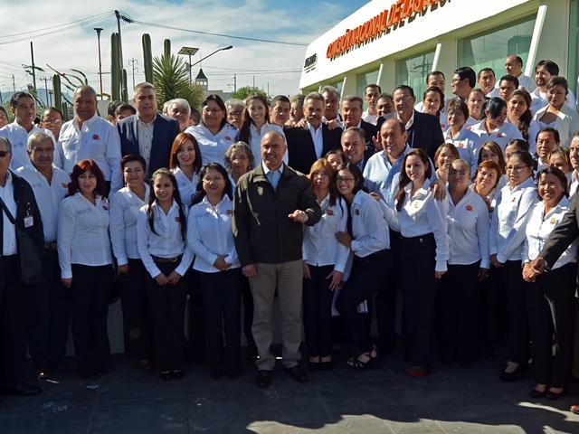 Gira de trabajo del secretario José Calzada Rovirosa por el estado de Coahuila.