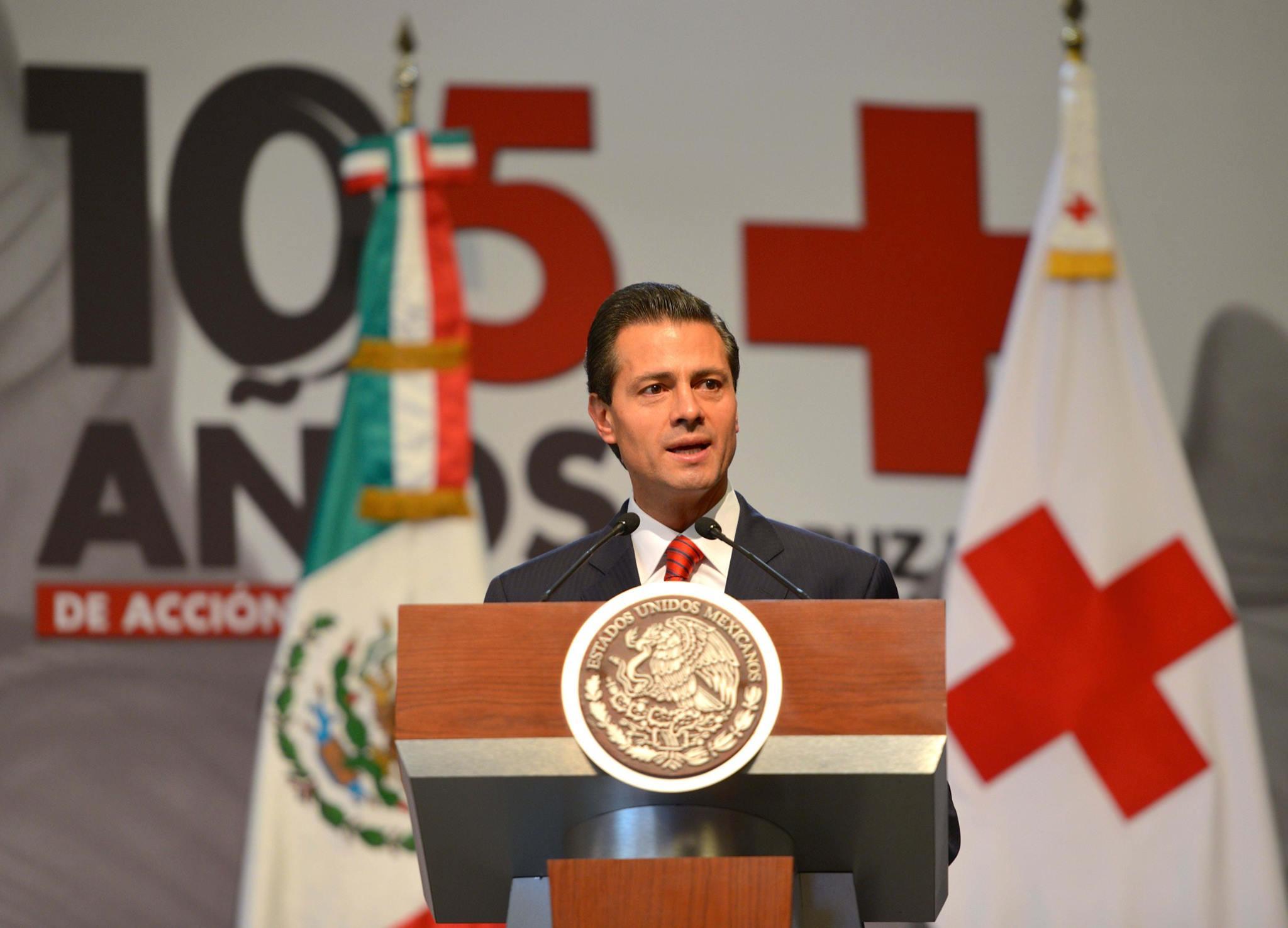 Palabras del Presidente Enrique Peña Nieto, durante el Homenaje a Cruz Roja Mexica, 105 Años de Acción Humanitaria