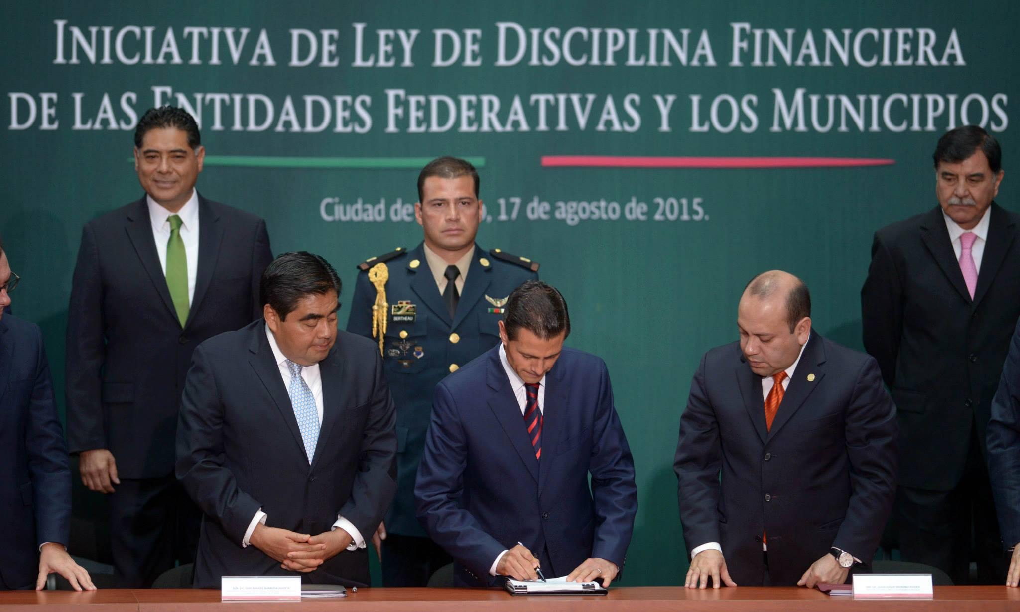 Palabras del Presidente de los Estados Unidos Mexicanos, licenciado Enrique Peña Nieto, durante la Presentación de la Iniciativa de Ley de Disciplina Financiera de las Entidades Federativas y los Municipios