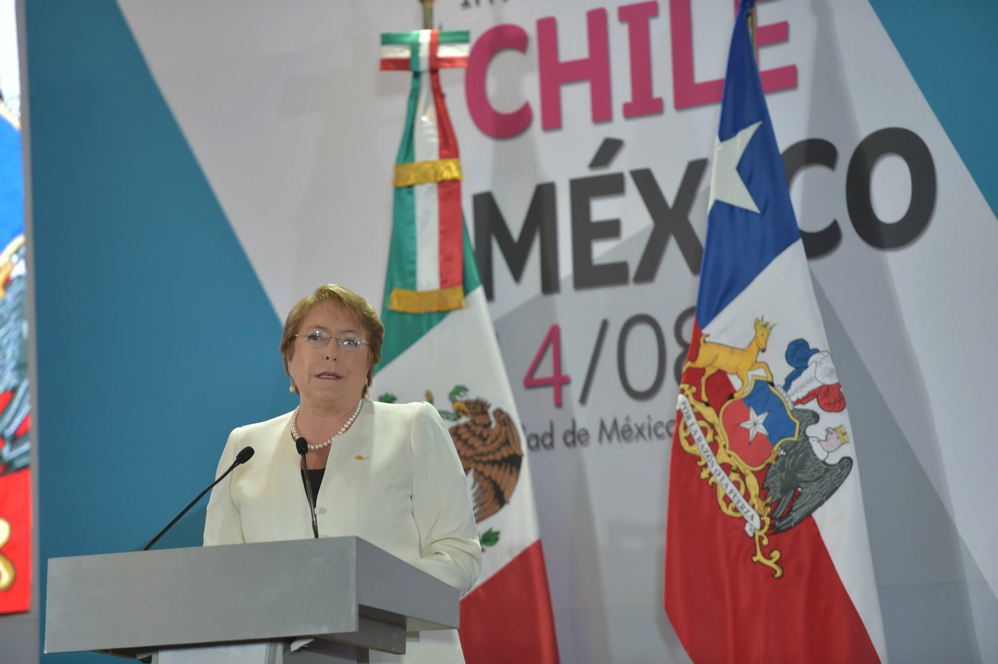 Palabras de la Presidenta de la República de Chile, Excelentísima Michelle Bachelet, durante el Foro Comercio e Inversiones Chile-México