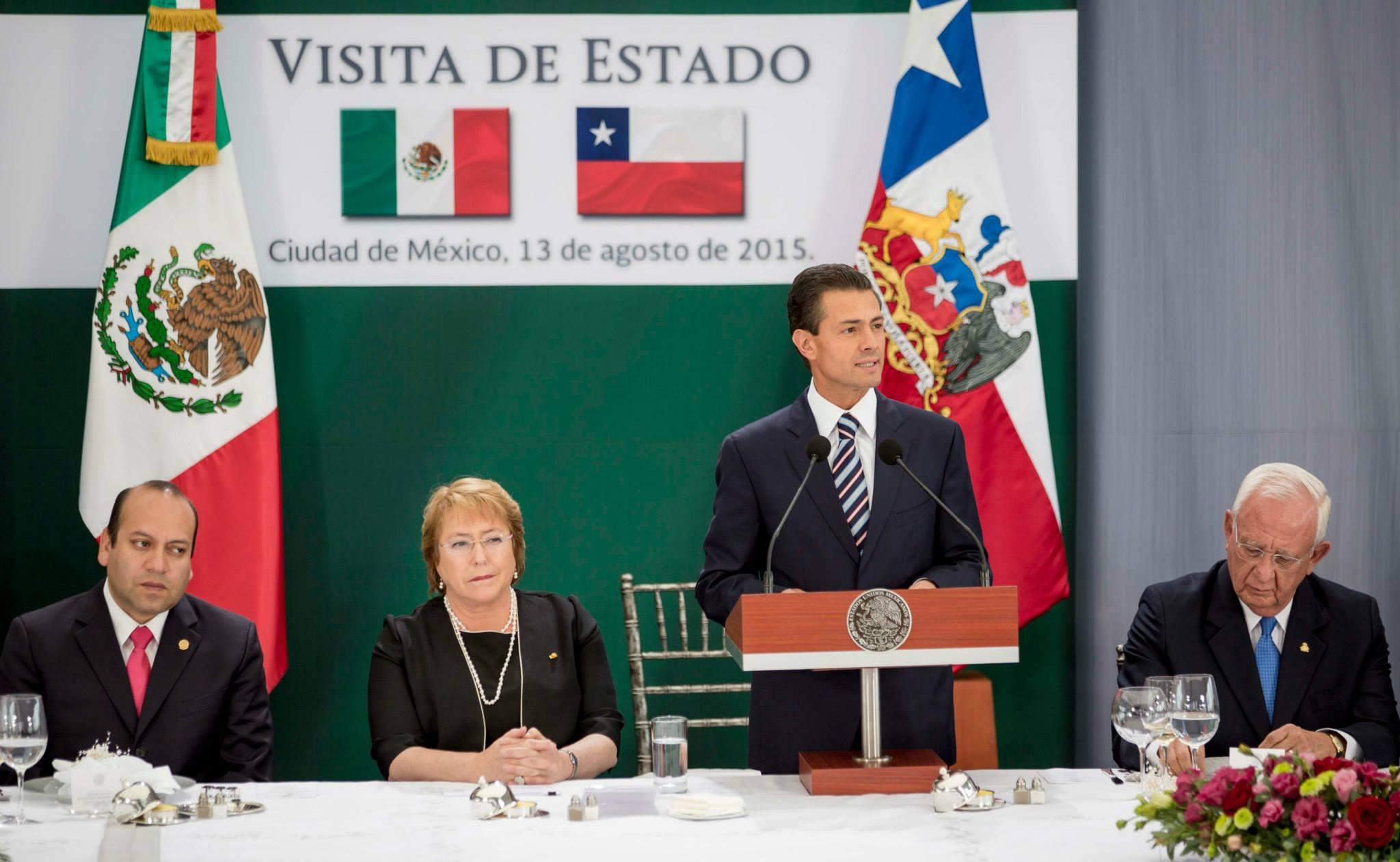 Palabras del Presidente Enrique Peña Nieto, durante la Comida que ofreció en Honor de la Presidenta de Chile, Michelle Bachelet