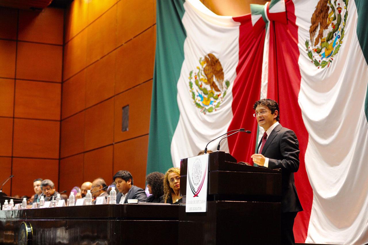 El Secretario de la Función Pública, Virgilio Andrade Martínez, comparece ante comisiones unidas de Vigilancia de la Auditoría Superior de la Federación y de Transparencia y Anticorrupción de la H. Cámara de Diputados.