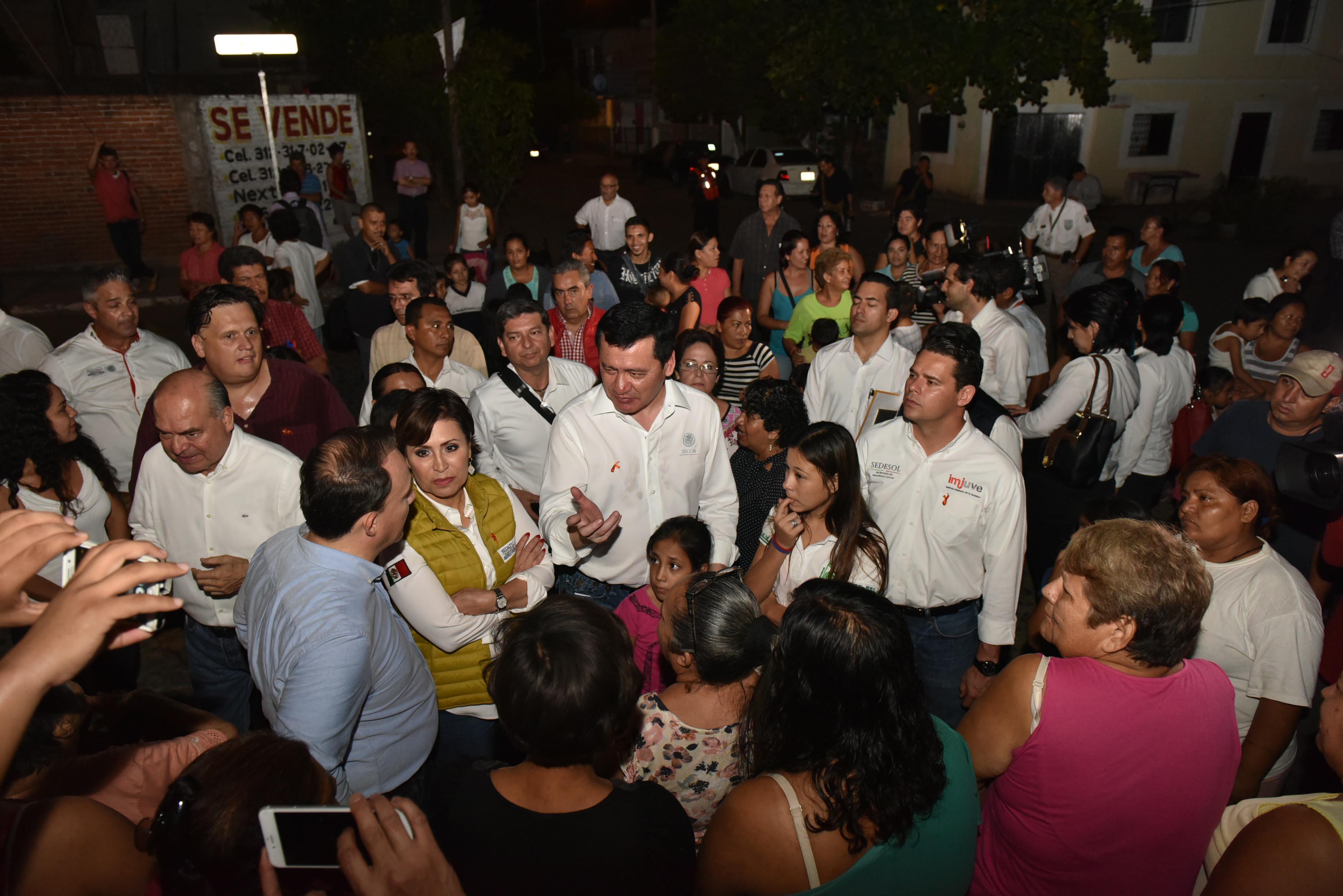 El Secretario de Gobernación, Miguel Ángel Osorio, en la puesta en marcha del programa Ciudades Seguras para las Mujeres, Derecho a la Ciudad e inicio de los trabajos del proyecto piloto de Caminatas Nocturnas en Colima