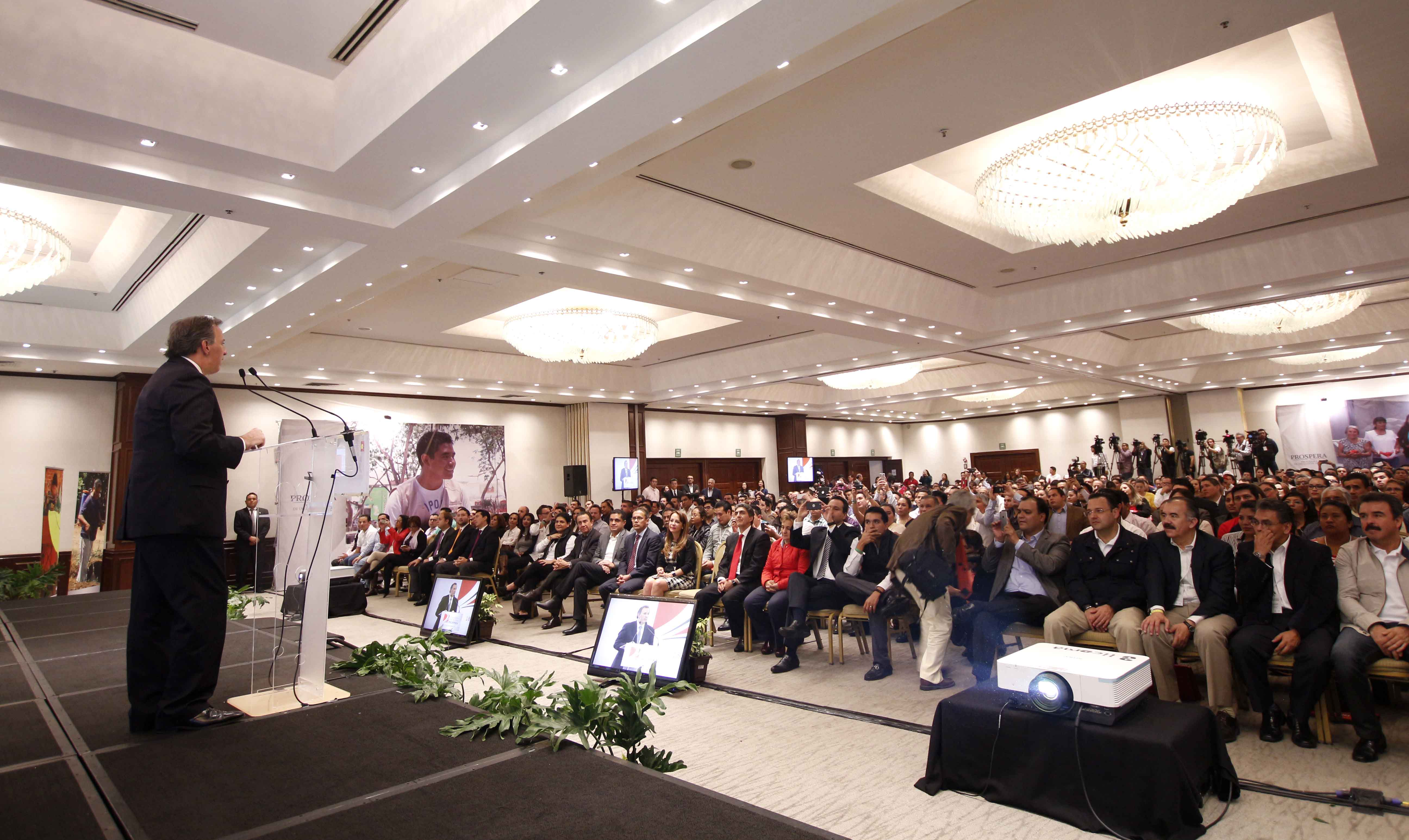 El secretario José Antonio Meade durante la Convención Nacional Prospera