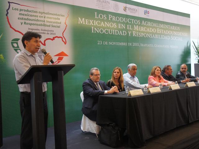 """Organiza SAGARPA seminario """"Los productos Agroalimentarios Mexicanos en el Mercado Estadounidense: Inocuidad y Responsabilidad Social""""."""