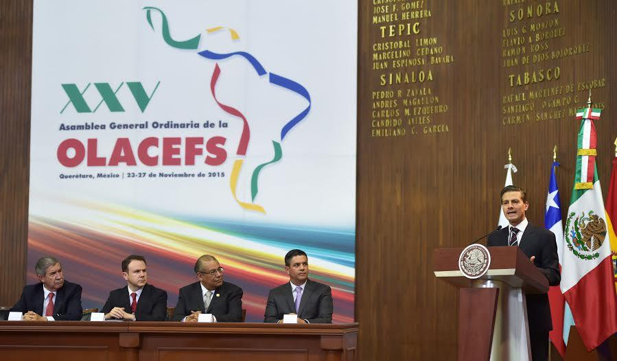 El Primer Mandatario inauguró la 25ª Asamblea General Ordinaria de la Organización Latinoamericana y del Caribe de Entidades Fiscalizadoras Superiores.