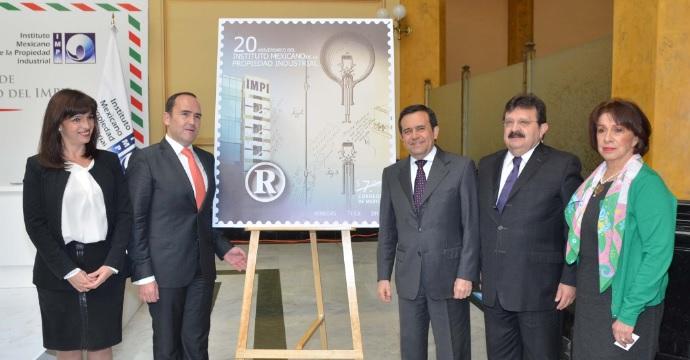 Canceló el Secretario de Economía la Estampilla Postal por 20 Aniversario del IMPI