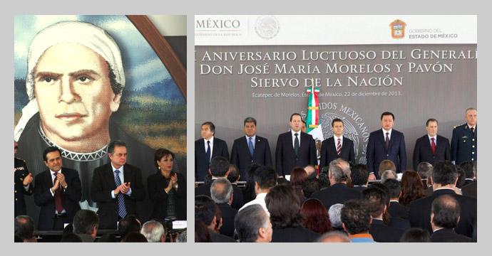 Conmemoran Aniversario Luctuoso de José María Morelos y Pavón