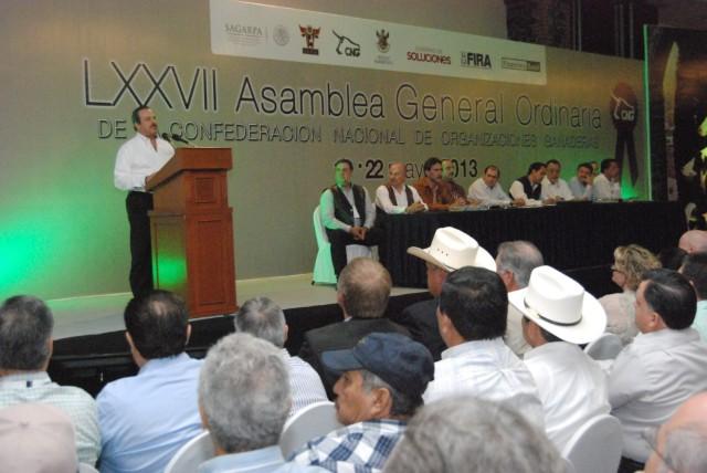 En el marco de la LXXVII Asamblea General Ordinaria de la Confederación Nacional de Organizaciones Ganaderas (CNOG)