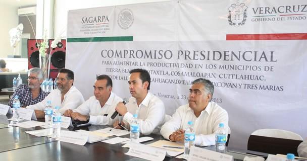 Impulsa SAGARPA productividad en municipios veracruzanos
