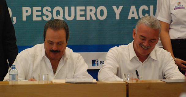 Durante la firma del Convenio de Coordinación para el Desarrollo Rural Sustentable en la entidad, el secretario Enrique Martínez y Martínez detalló que se ejercerán en ese estado 93.2 millones de pesos en concurrencia, y 102 millones por parte de la Comis