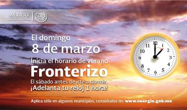 Horario Verano Fronterizo