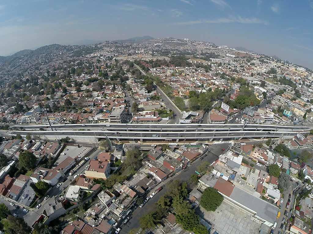 Agiliza SCT flujo vehicular en Naucalpan con el puente Camino Real de San Mateo