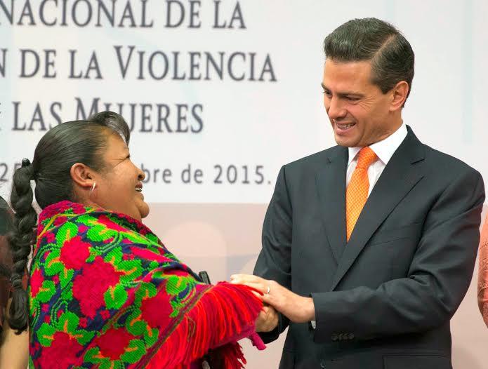 El Primer Mandatario encabezó la conmemoración del Día Internacional de la Eliminación de la Violencia contra la Mujer.