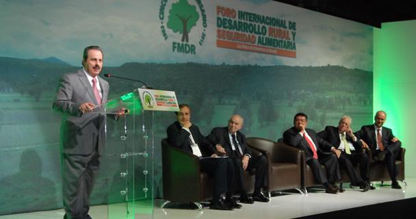 Enrique Martínez y Martínez, inauguró el Foro Internacional de Desarrollo Rural y Seguridad Alimentaria