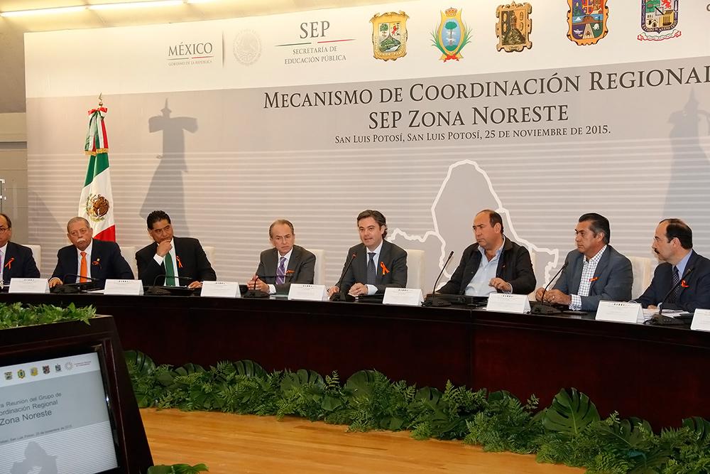 Conferencia de prensa al término de la firma de la Declaración del Plan de San Luis por la Educación