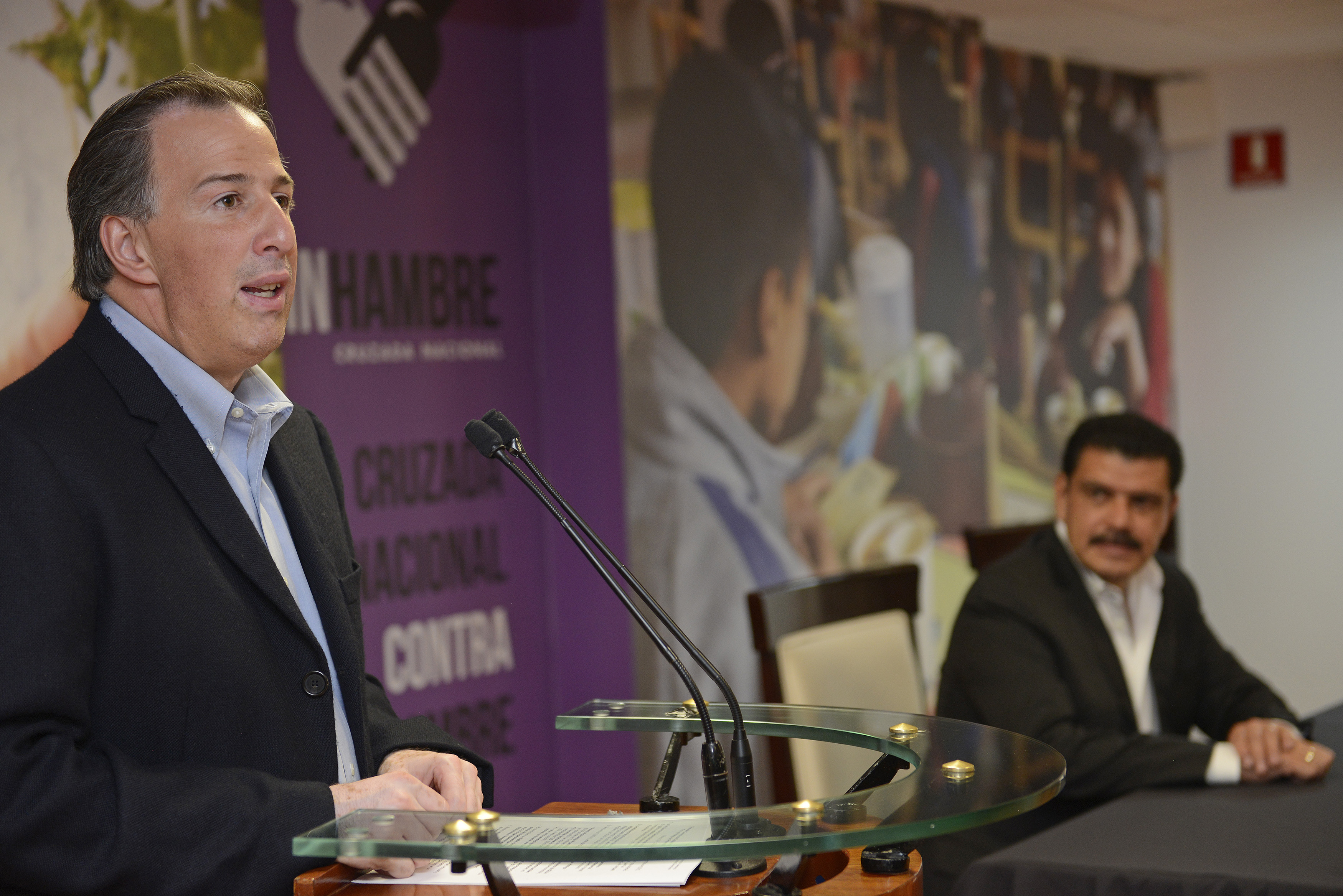 Mensaje del secretario José Antonio Meade durante la firma del Acuerdo por un Hidalgo sin Pobreza, realizado en las instalaciones de la Sedesol