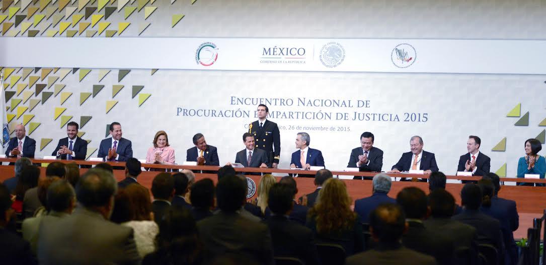 El Primer Mandatario inauguró el Encuentro Nacional de Procuración e Impartición de Justicia.