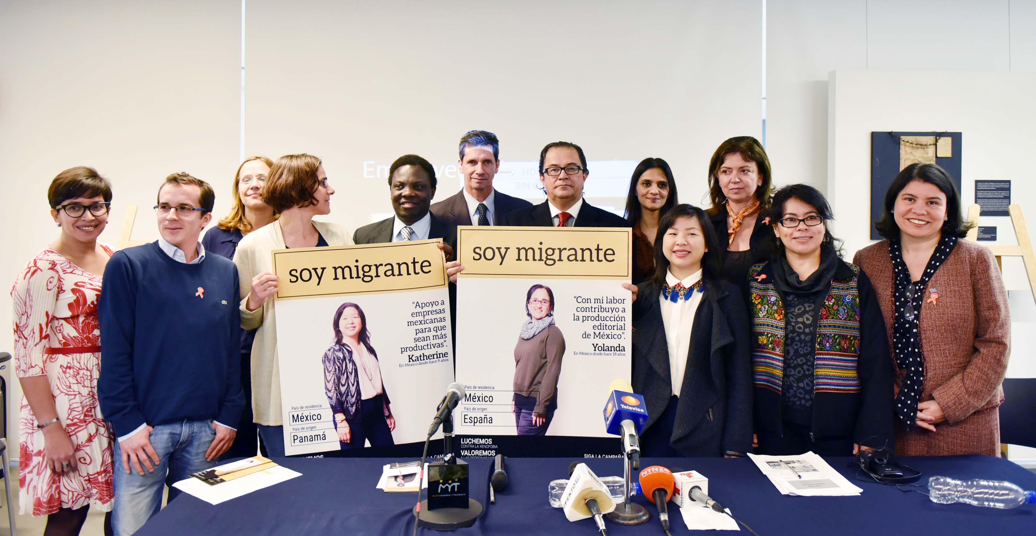 Presentación de la campaña Soy Migrante en la que participan la Secretaría de Gobernación, ONU Mujeres y Organización Internacional para las Migraciones