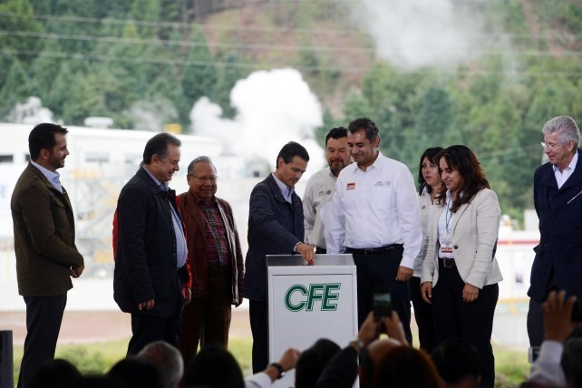The president inaugurated the Azufres III Geothermal Power Station, Phase 1.