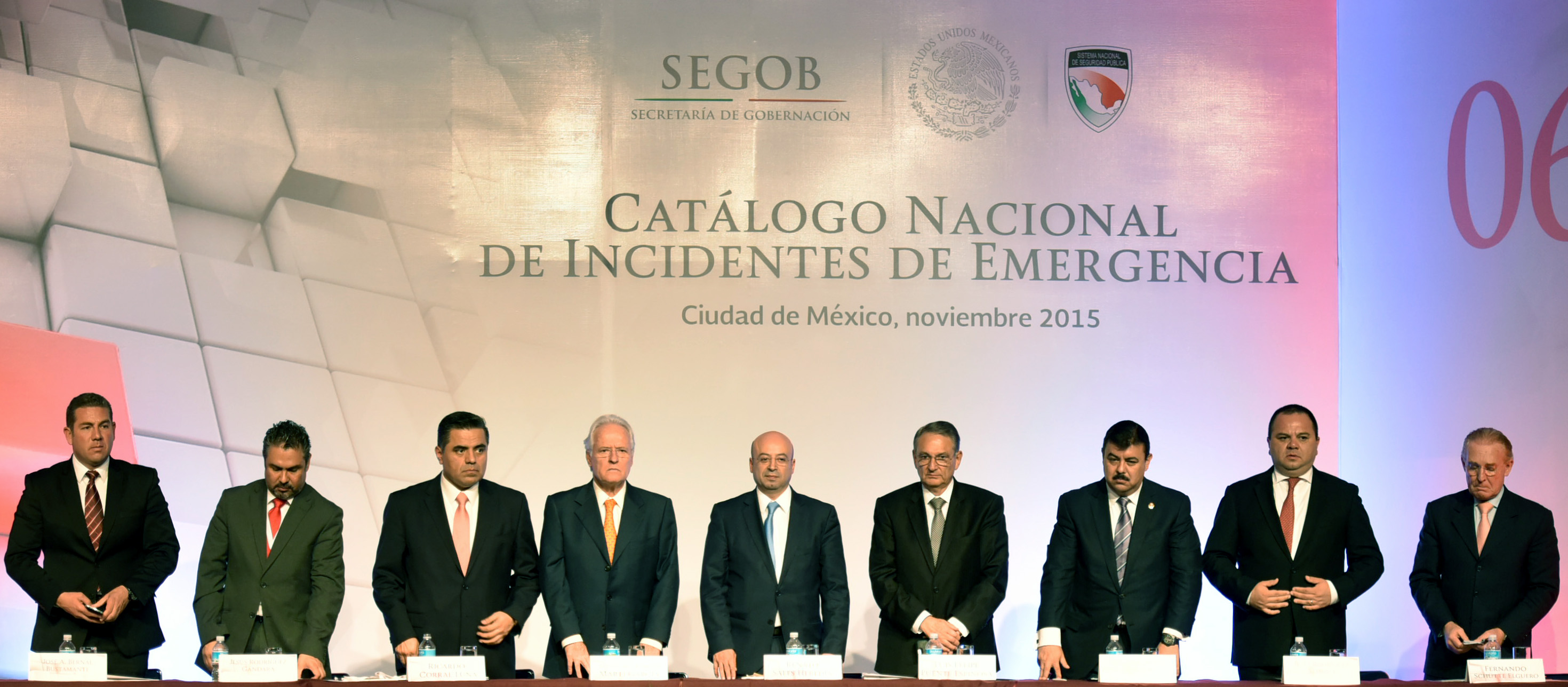El Comisionado Nacional de Seguridad, Renato Sales Heredia, durante la presentación del Catálogo de Incidentes de Emergencia