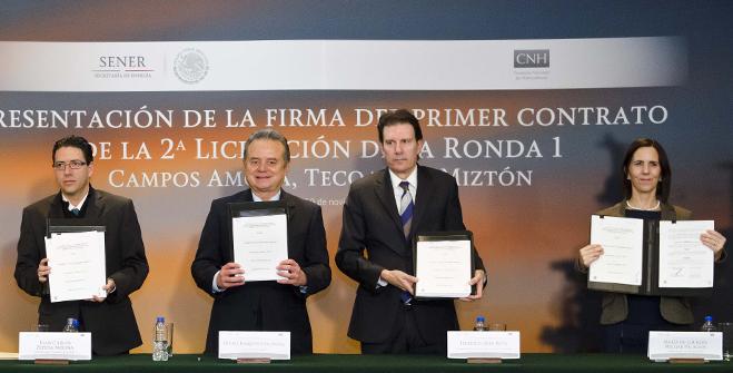 El Gobierno de México firma contrato de Extracción de Hidrocarburos con la empresa italiana ENI