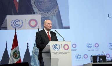 La delegación del gobierno mexicano participa en las negociaciones multilaterales en la COP20 encabezada por la Semarnat.