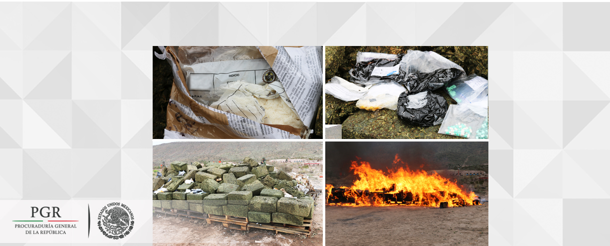 Incinera la PGR en Coahuila más de cuatro toneladas de droga y destruye objetos de delito