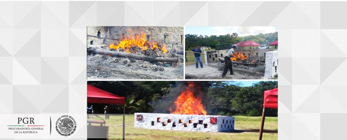 Incinera PGR más de media tonelada de narcóticos en Campeche