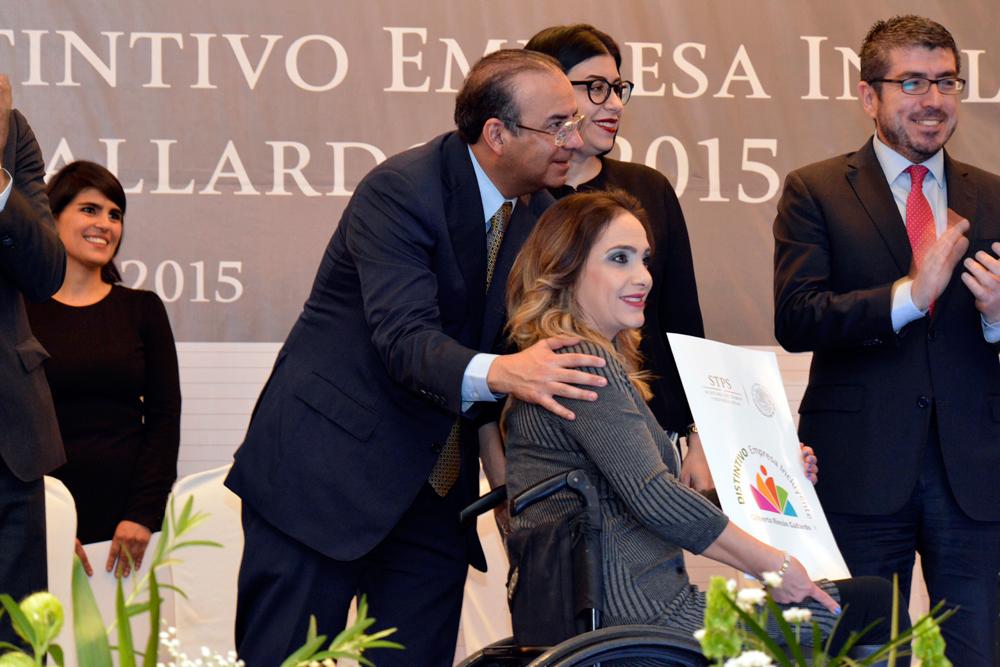 """Distintivo Empresa Incluyente """"Gilberto Rincón Gallardo"""" 2015"""