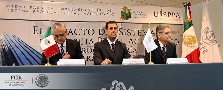 PGR trabaja de manera coordinada con dependencias federales para la implementación del NSJP