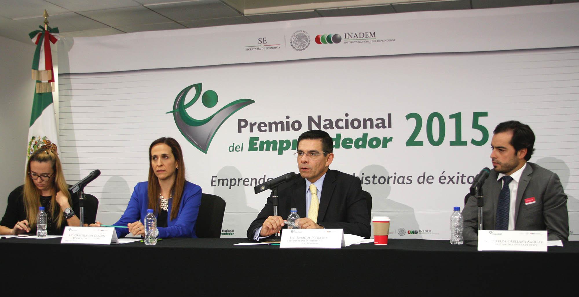 Presentan Convocatoria para participar en el Premio Nacional del Emprendedor 2015