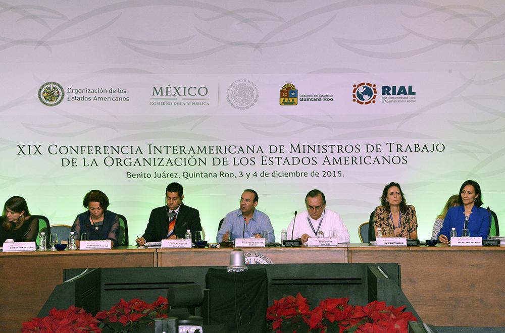 Al asumir el cargo, el Titular de la STPS manifestó su agradecimiento por esta distinción de los países americanos a México.
