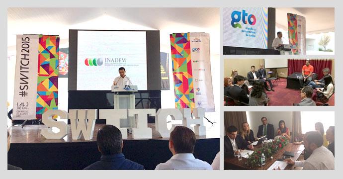 """INADEM participa en la inauguración del Festival de Aceleración para startups en Latinoamérica """"Switch 2015"""""""