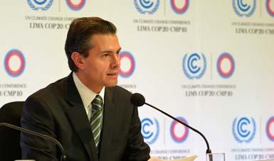 El Ejecutivo Federal reafirmó el compromiso de México de actuar responsablemente a nivel global en la COP20.