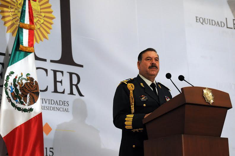 """""""Somos una institución militar de tradición de lealtad que coadyuva con la seguridad nacional, la estabilidad y la gobernabilidad del Estado mexicano, garantizando la seguridad del Presidente de la República""""."""