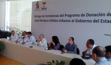 Semarnat refuerza acciones sobre el manejo adecuado e integral de los residuos sólidos urbanos en Tabasco.