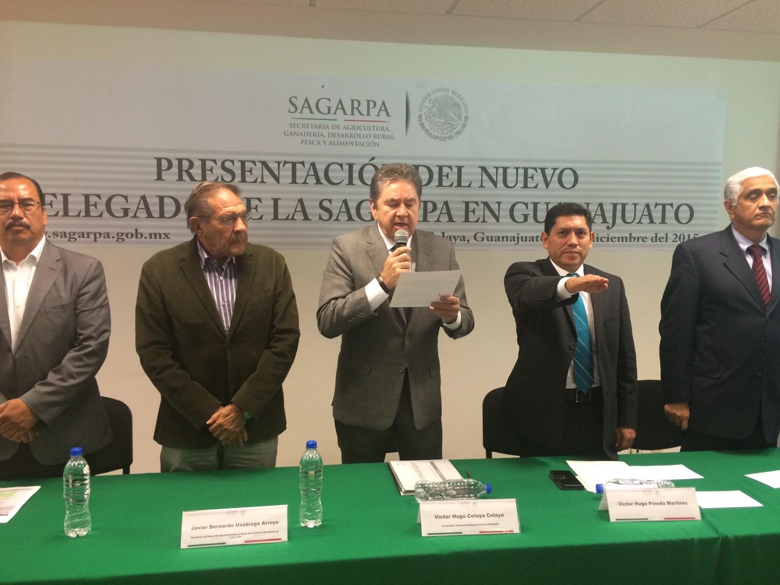 Toma de protesta del nuevo delegado de la SAGARPA en Guanajuato.