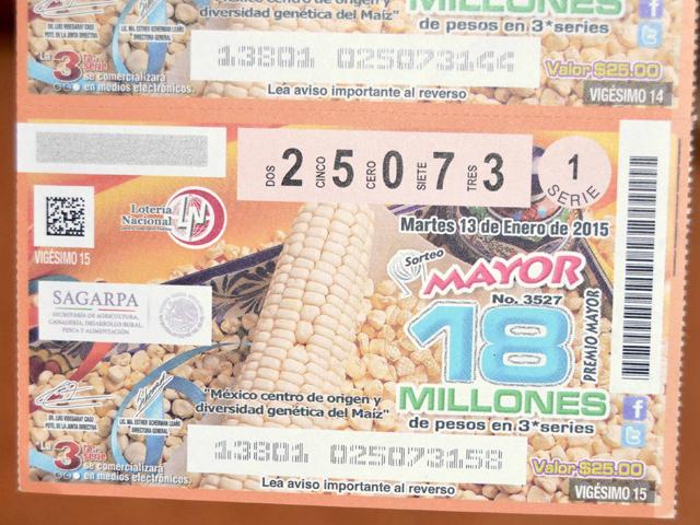"""Emiten billete de Lotería conmemorativo a """"México centro de origen y diversidad genética del maíz"""""""
