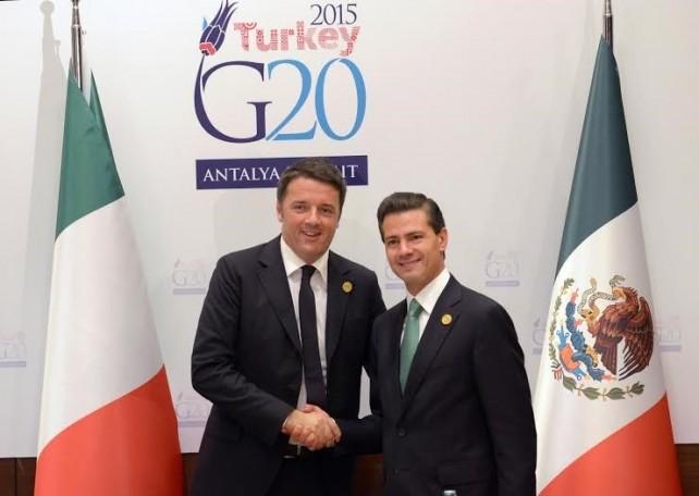 President Peña Nieto meets with Italian prime minister.