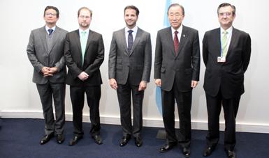 Ban Ki-moon destacó el papel de México como generador de puentes entre las naciones que combaten el cambio climático