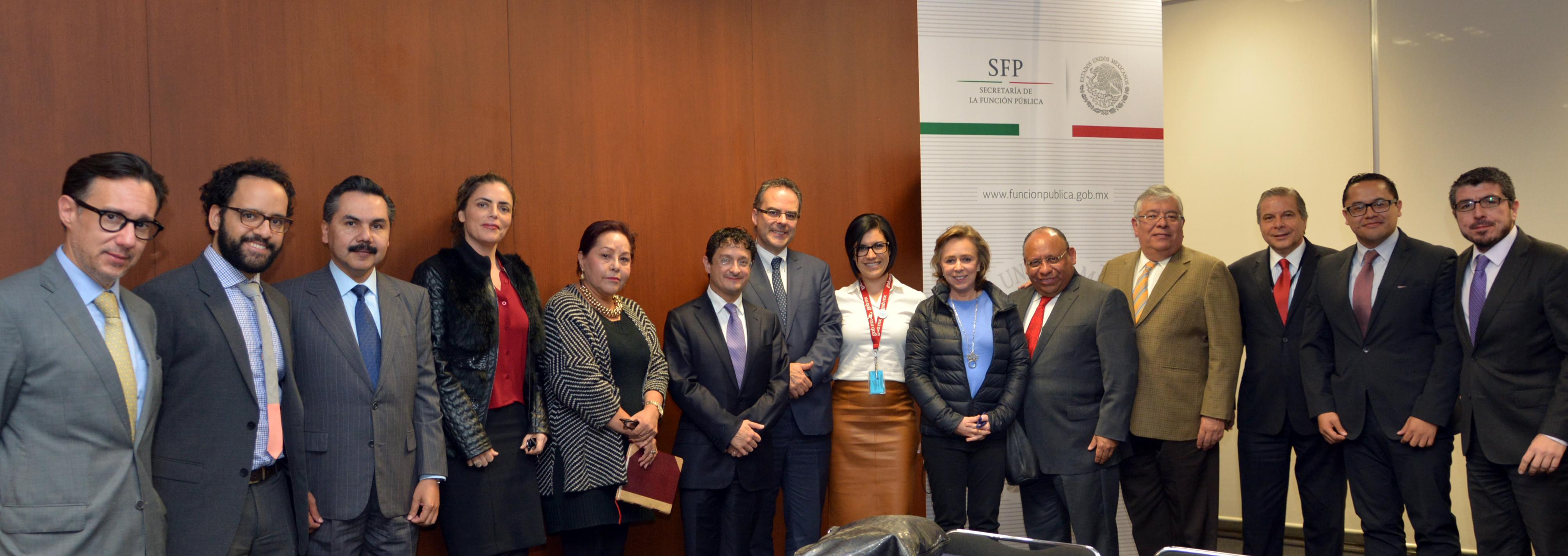 Reunión de grupos de trabajo de la SFP y el Instituto Mexicano para la Competitividad, A.C.