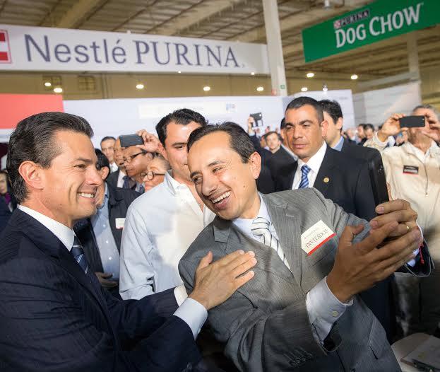 El Primer Mandatario inauguró la nueva Fábrica de Nestlé Purina en Silao; forma parte del plan de expansión en México anunciado por la empresa en el Foro Económico Mundial de Davos en 2014.