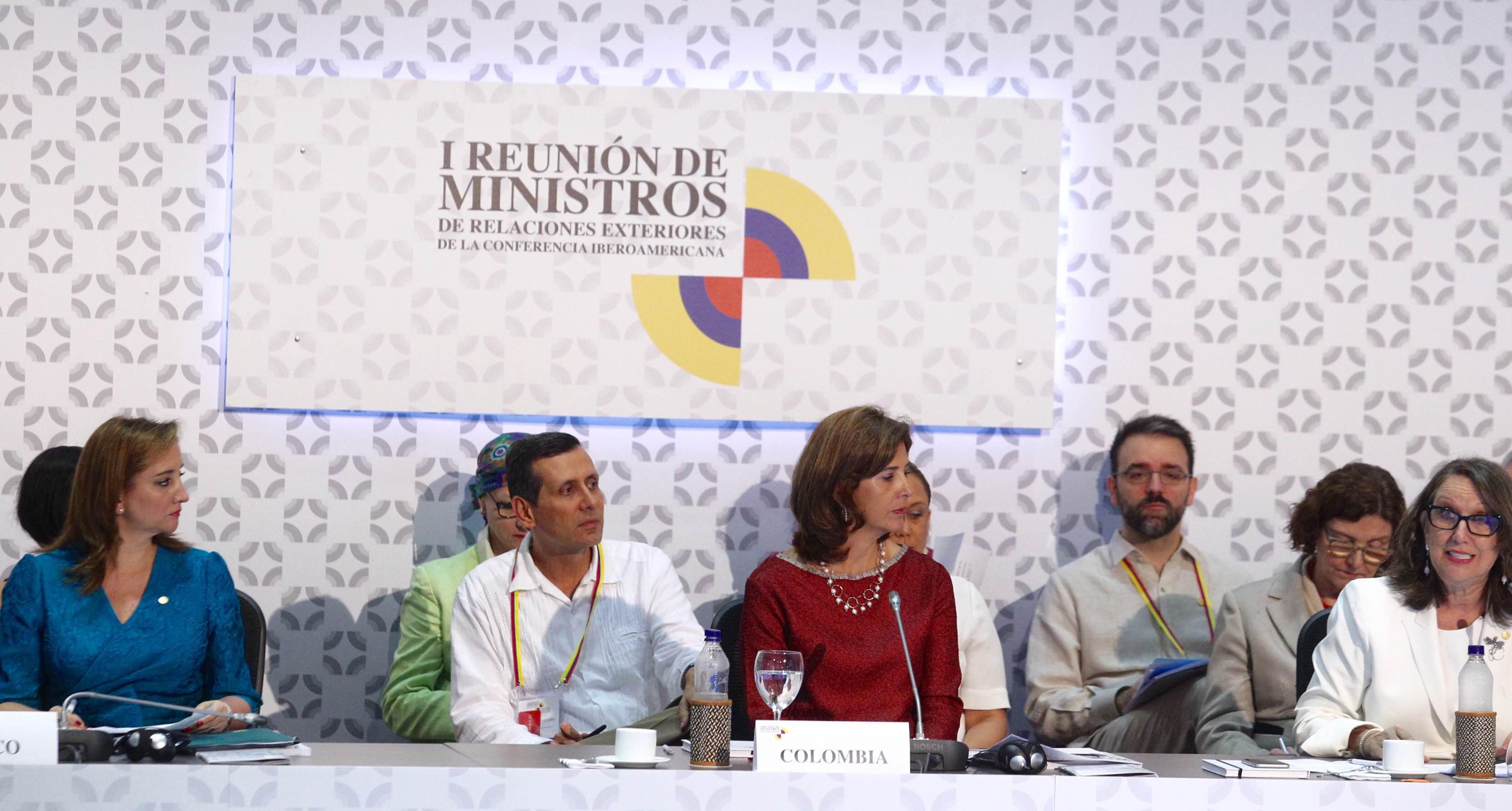 Canciller Claudia Ruiz Massieu en la inauguración de la Reunión de Ministros de Relaciones Exteriores de Iberoamericana