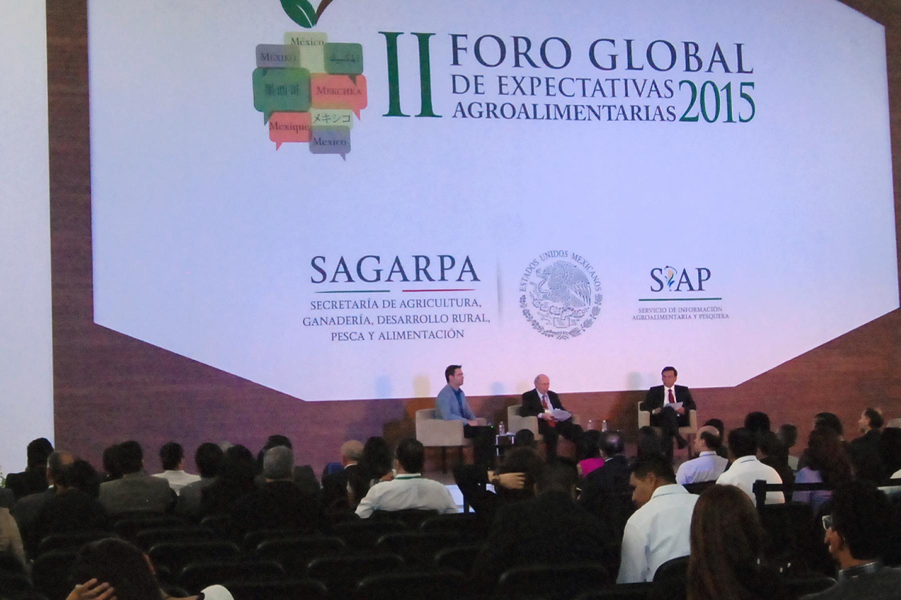 Foro Global de Expectativas Agroalimentarias, espacio de intercambio para incrementar y ordenar la producción de alimentos.