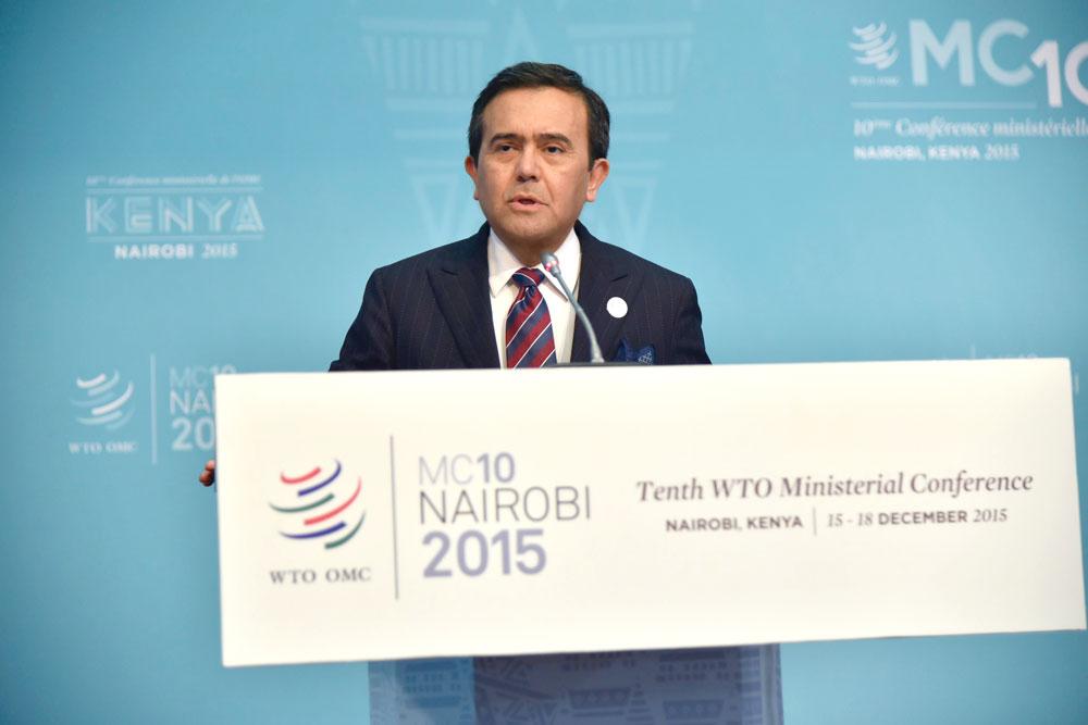 Ildefonso Guajardo participa en la 10ª Conferencia Ministerial de la OMC en Nairobi